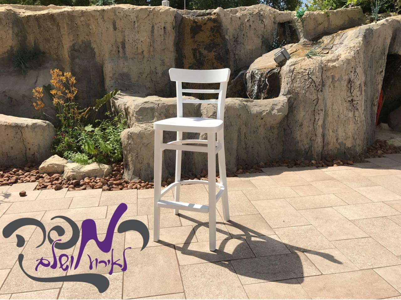 כסא בר אירי לבן