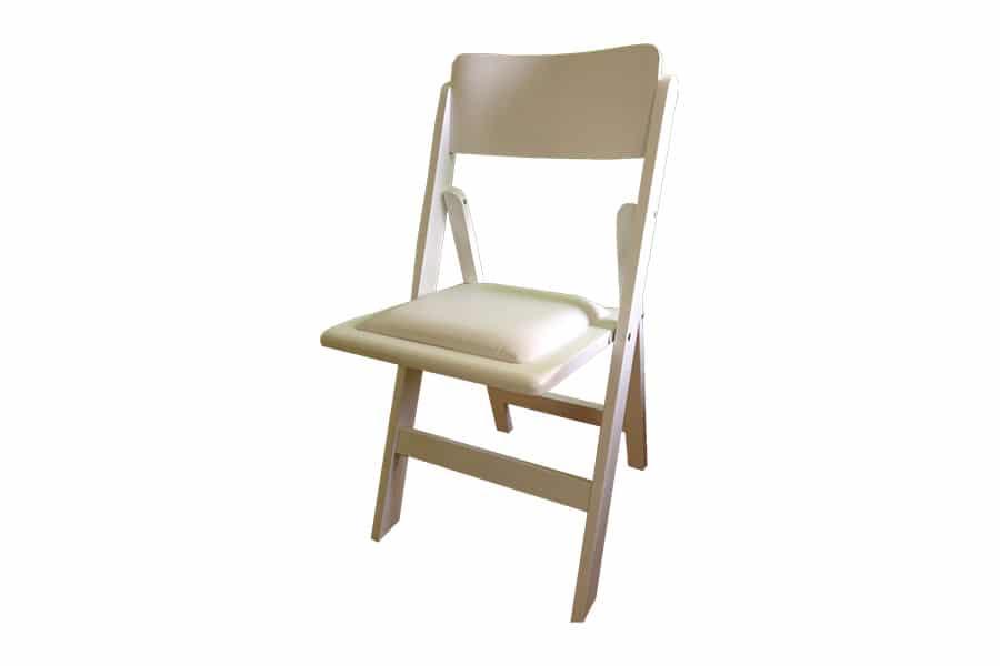 כסא מתקפל לבן להשכרה